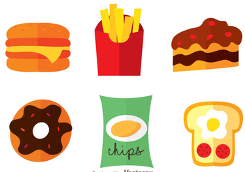 Delicious Food Icons - vector #275147 gratis