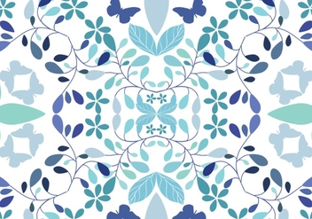 Seamless floral pattern background - vector #275167 gratis