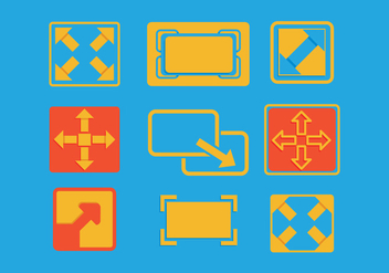 Full screen icon - vector #275197 gratis