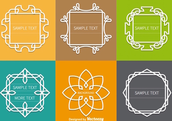 Vintage ornate frames - Free vector #275287