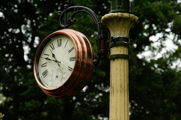 Clock for the railway at Whipsnade Zoo - Free image #275797