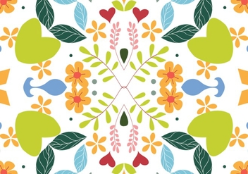 Floral seamless pattern background - Free vector #281047
