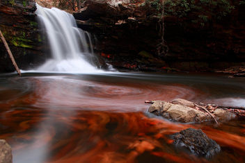 Fiery Autumn Waterfall - Free image #285387
