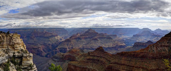 Grand Canyon National Park: View from Rim Trail east of Mather Point - бесплатный image #286587