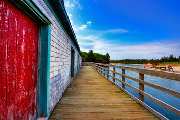 PEI Beach Boardwalk - HDR - Free image #286767