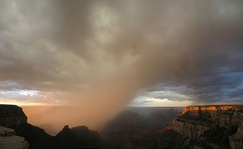 Grand Canyon National Park: Sunset from El Tovar Hotel, August 1, 2013 - image #288857 gratis
