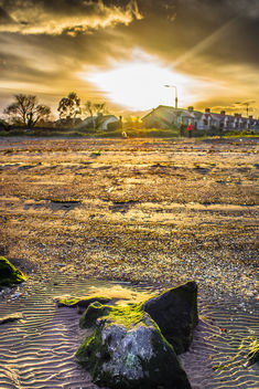 Sunset at Sandymount beach, Dublin, Ireland - image #291497 gratis