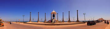 Gandhi Statue in Panorama,pondicherry - image gratuit #296427