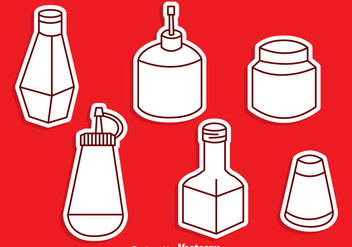 Sauce Bottle Vector Set - Free vector #297607