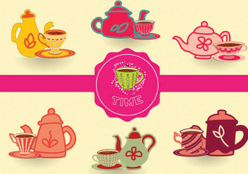 Tea Time Vectors - бесплатный vector #297637