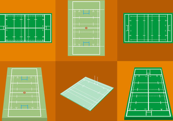 Rugby Pitch - vector gratuit #297647