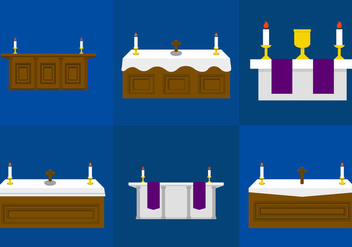 Church Altar - vector gratuit #297677