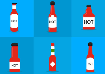 Hot Sauce Bottle - vector #297737 gratis