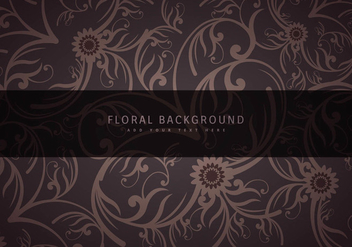 Vintage floral background - vector gratuit #297797