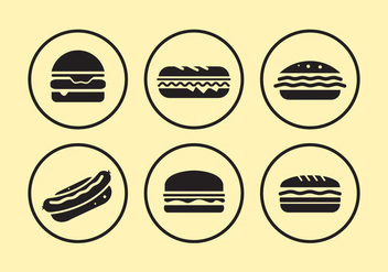 Food Icons - vector #297857 gratis