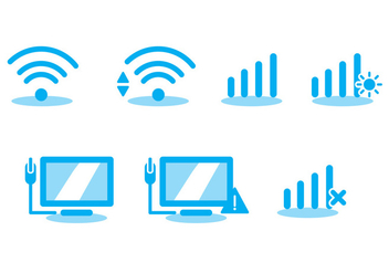 Wifi Icon Vector Set - vector #297887 gratis