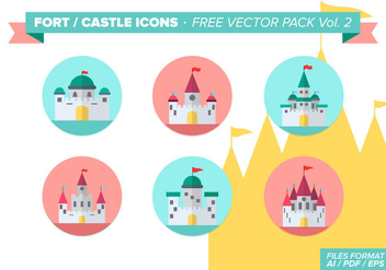 Fort Castle Icons Free Vector Pack Vol. 2 - Kostenloses vector #297907