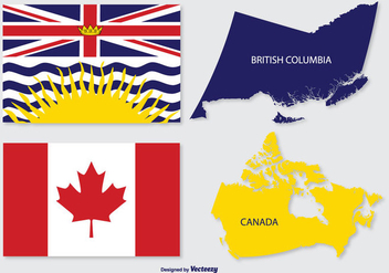 British Columbia & Canada Map - Free vector #297977