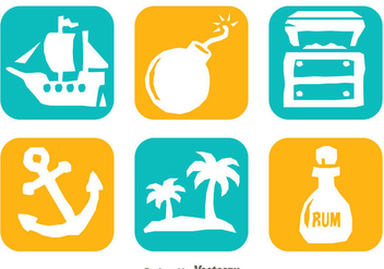 Treasure Hunter White Icons - vector gratuit #297997