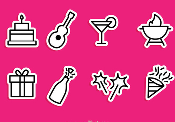Vector Party Icons - Kostenloses vector #298007