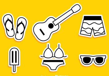 Summer Beach Icons - Free vector #298017