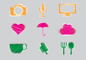 Free Scribble Set Vector - vector #298027 gratis