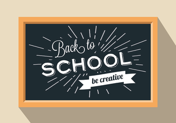 Free Back To School Vector Background - vector gratuit #298057