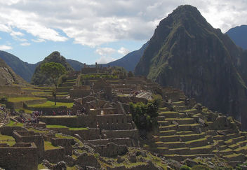 Peru (Machu Picchu) Perfectly constructed terasses for agriculture - бесплатный image #298877