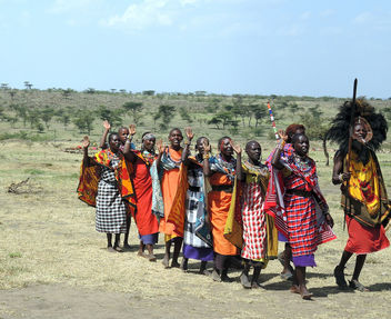 Kenya (Masai Mara) Welcome song from Masaian people - Kostenloses image #300737