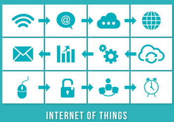 Internet of Things Illustration - vector gratuit #301497