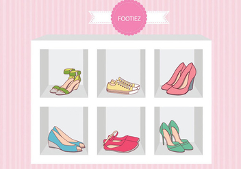 Fashion Shoes Sandal Case Vector - Kostenloses vector #301517