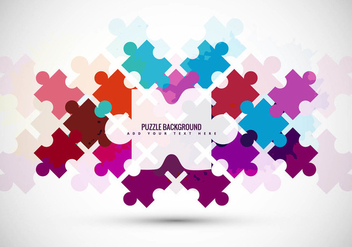 Puzzle Piece Vector Background - vector gratuit #301527