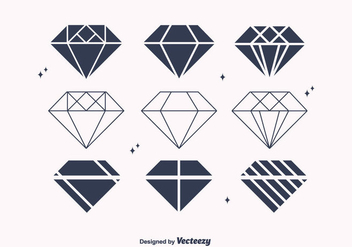 Free Flat Diamond Vectors - бесплатный vector #301537