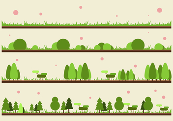 FREE GRASS AND PLANT VECTOR - Free vector #301777
