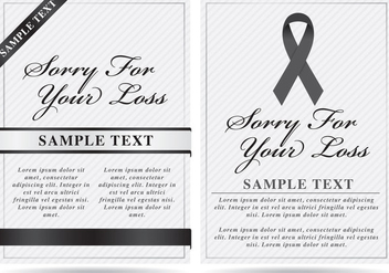 Obituary Template Vectors - vector gratuit #301787