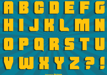 Comic Style Alphabet Set - vector #301797 gratis