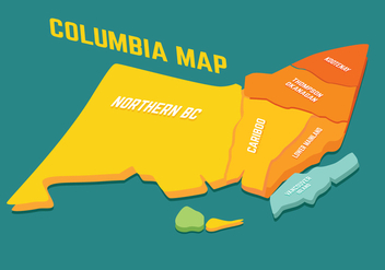 British Columbia Map vector - vector #301827 gratis