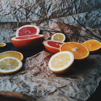 Orange and grapefruit slices - Free image #301947