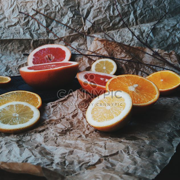tranches d'orange et de pamplemousse - image gratuit #301947