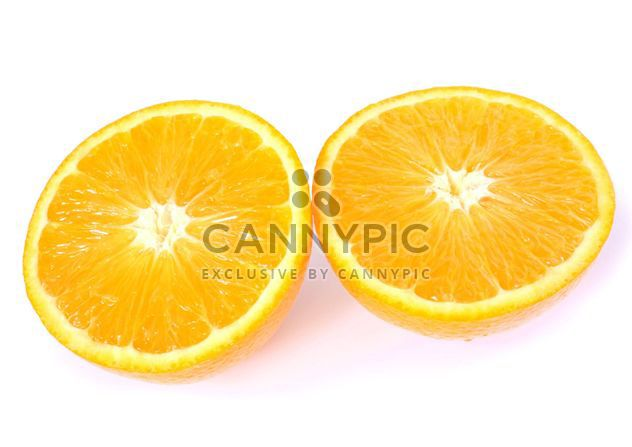 Orange slices on white background - Free image #301967