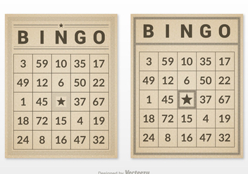Free Retro Bingo Card Set Vector - vector gratuit #302117