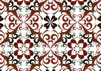 Seamless Floral Pattern Background - vector #302137 gratis