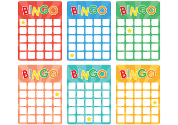 Retro Bingo Card - vector gratuit #302147