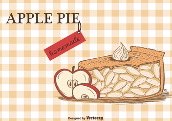 Apple Pie Vector Background - vector #302247 gratis