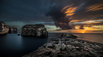 The Fungus Rock - Gozo, Malta - Landscape, travel photography - Free image #302487