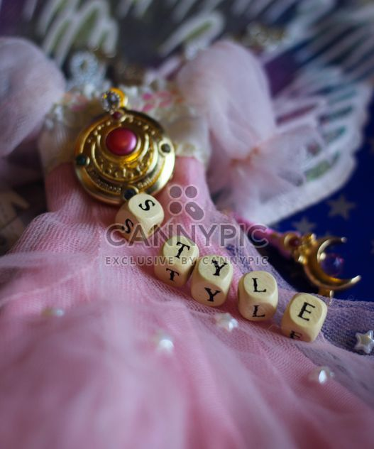 Pink doll dress still life - image gratuit #302527
