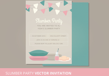 Vector Slumber Party - Kostenloses vector #302587