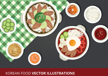 Korean Food Vector Illustration - vector gratuit #302597