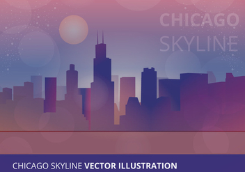 Chicago Skyline Vector Illustration - vector gratuit #302607