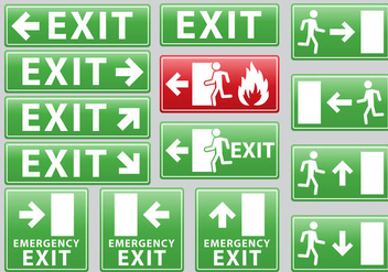 Emergency Exit Sign - Free vector #302617